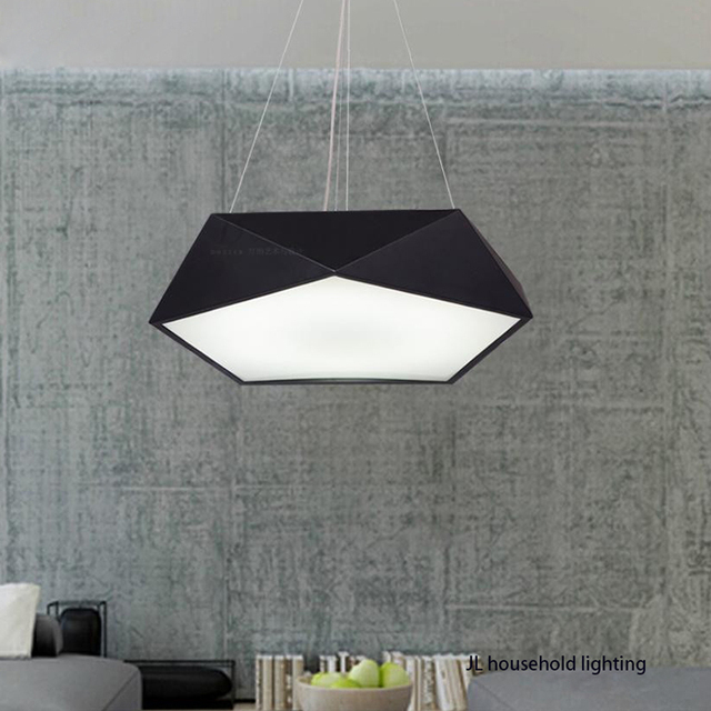 Household lighting fixtures Recessed Modern Minimalist Geometric Led Pendant Light Lamps Ac 90260v Metal Lighting Fixtures For Study Room Dining Room Corridor Lovidsgco Modern Minimalist Geometric Led Pendant Light Lamps Ac 90 260v Metal