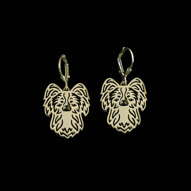 Retail <font><b>1</b></font> PAIR <font><b>2</b></font> Colors Papillon earrings For Pet Lovers Dog Design Gift For Wome earrings india cute animal jewelry A142
