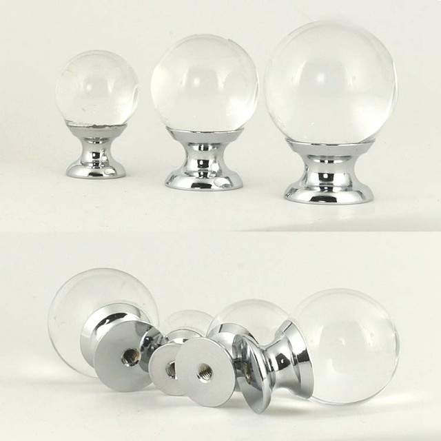 us $14.07 12% off|10pcs clear glass ball cabinet knob handles cupboard  wardrobe drawer closet crystal knobs kitchen bedroom furniture hardware -in