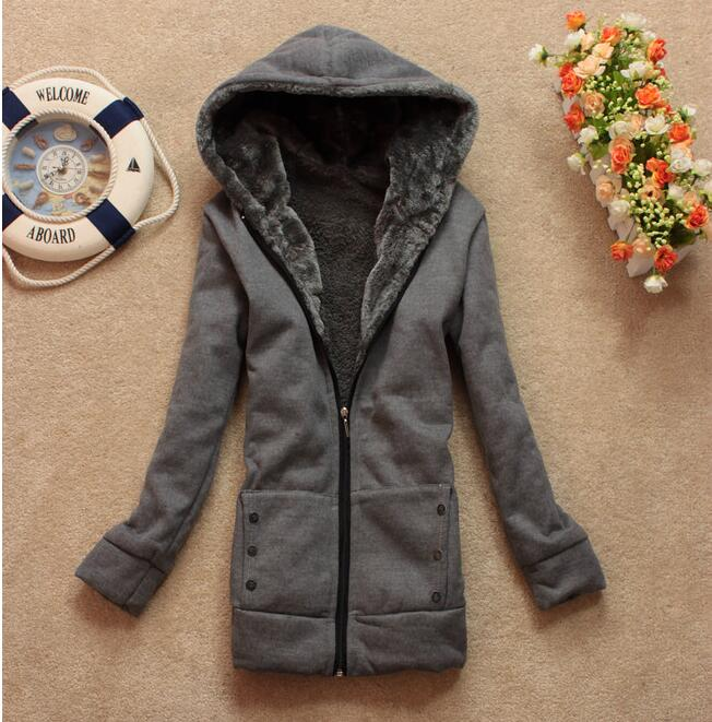 Women Hoodies Sweatshirts Autumn  Winter Women Casual Thick Velvet Fleece Warm Outwear Long Sleeve Zipper Coat Jackets