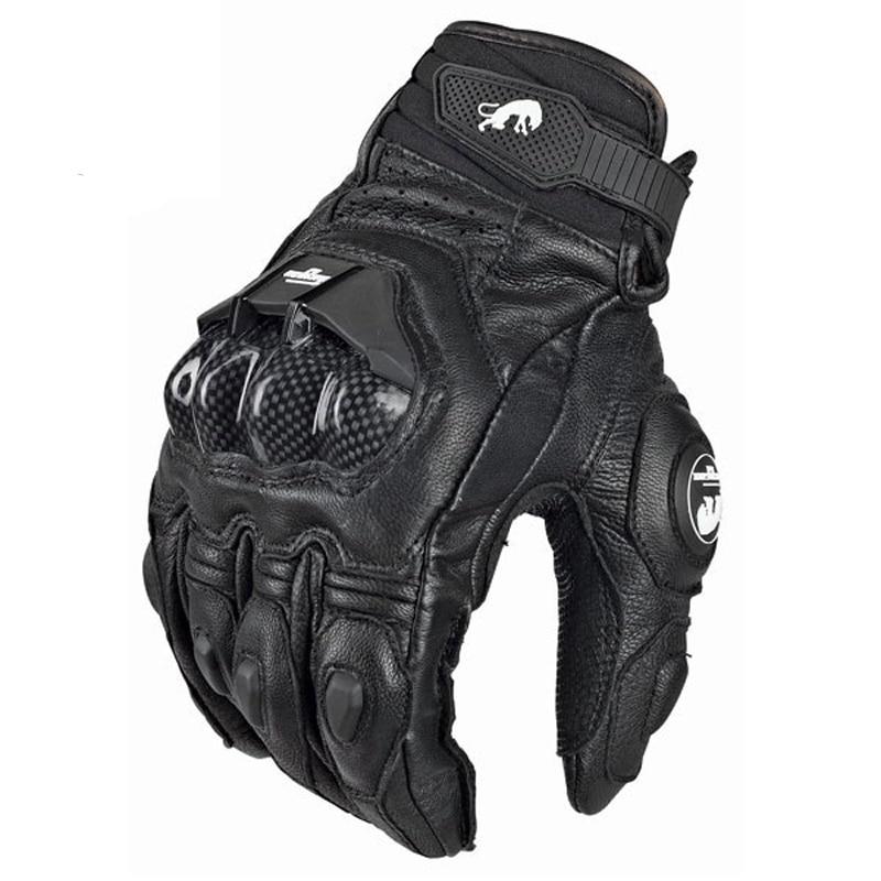 Motorcycle Gloves black Racing Genuine Leather Motorbike white Road Racing Team Glove men summer winter 1