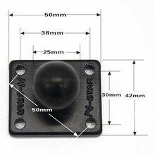 אלומיניום כיכר הרכבה בסיס כדי גומי 1 אינץ כדור הר תואם עבור Ram Mounts עבור Gorpo מצלמה DSLR עבור Garmin