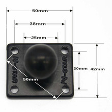Aluminum Square Mounting Base to Rubber 1 inch Ball Mount Compatible for Ram Mounts for Gorpo Camera DSLR for Garmin