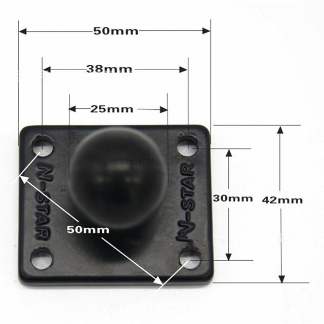 Socle de montage carré en aluminium pour caoutchouc 1 pouce Compatible avec les supports Ram pour appareil photo Gorpo DSLR pour Garmin