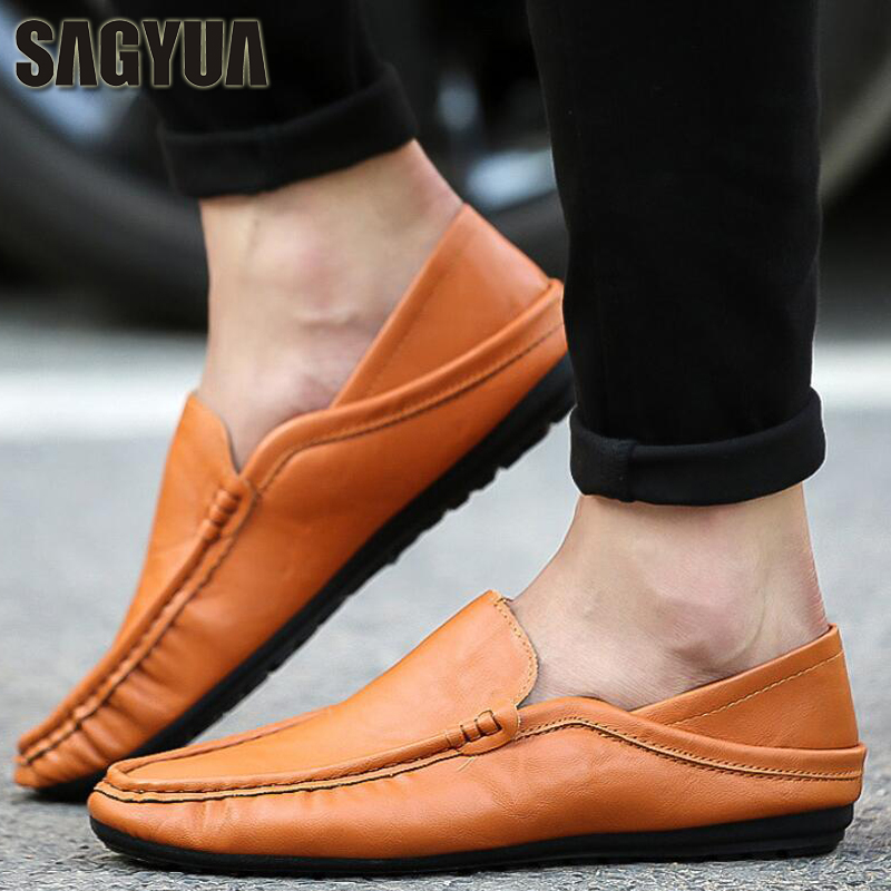 SAGYUA NEW Korean Male Fashion Spring Casual Loafers Hombre Men - Men's Shoes
