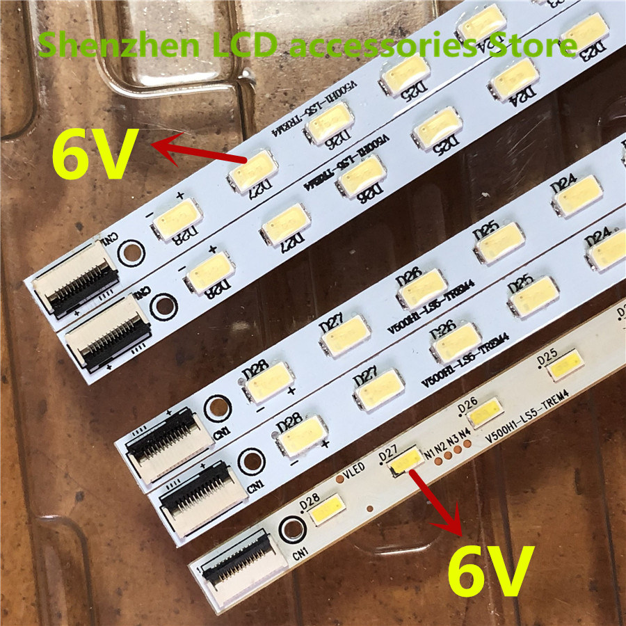 4Pieces/lot   Left And Right  FOR  Konka  LED50M6180AF  Article Lamp V500H1-LS5-TLEM6/TREM6  V500HJ1-LE1  1PCS=28LED 315MM