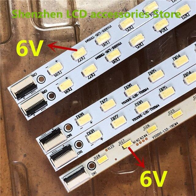 4Pieces/lot   Left and right  FOR  konka  LED50M6180AF  article lamp V500H1 LS5 TLEM6/TREM6  V500HJ1 LE1  1PCS=28LED 315MM