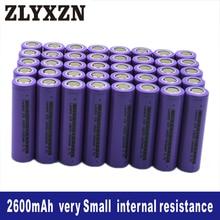 40PCS 18650 Li-ion 3.7v Battery 2600mAh 26f lithium batteries for Laptop,Toy,Electric drill battery,Power battery,lion li