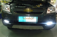 July King LED Daytime Running Lights DRL with Fog Lamp Cover, LED Fog Lamp Case for Chevrolet Captiva 2008~2010 1:1 replacement