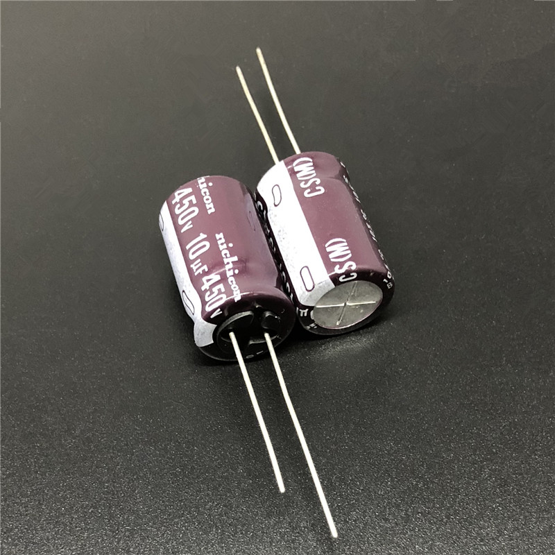 5pcs/50pcs 10uF 450V NICHICON CS Series 12.5x20mm High Ripple Current High Reliability 450V10uF Aluminum Electrolytic Capacitor