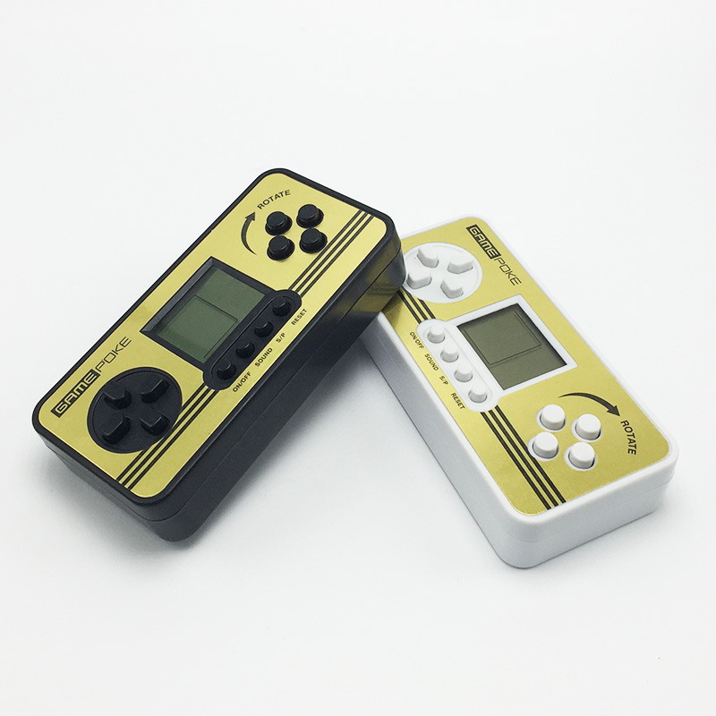 2pcs Retro Children Classical Built-in 23 Games Portable Tetris Handheld Game Console Tetris Kids Gaming Handheld Tetris Toys