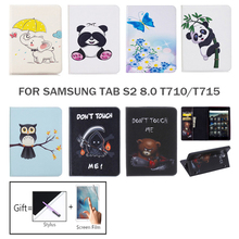 For Samsung Galaxy Tab S2 8.0 T710 T715 T719 SM-T715 PU Leather Case Cover For Fundas Samsung Tab S2 8.0 Tablet Shell Capa Funda dhl ems toothpick grain pattern back transparent pu leather case cover for samsung galaxy tab s 2 s2 8 0 sm t710 t715 8 tab