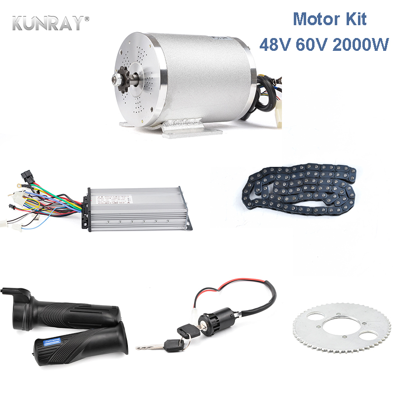 48V <font><b>60V</b></font> <font><b>2000W</b></font> Brushless DC <font><b>Motor</b></font> Electric <font><b>Motor</b></font> For Electric Vehicle With Controller, Chain And Throttle Scooter Conversion Kit image