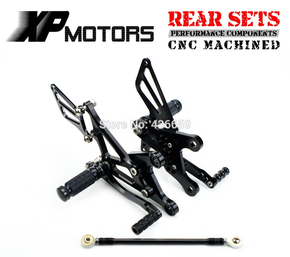 CNC Motorcycle Black Racing Foot Pegs Adjustable Rear Sets For Kawasaki Ninja ZX-6R ZX636 2005 2006 2007 2008 ZX 6R 636 330 6r