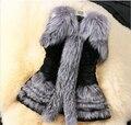 Новый 2016 Осень И Зима Меховой Жилет Жилет Имитация Silver Fox Меховой Жилет Пальто Бесплатная Доставка