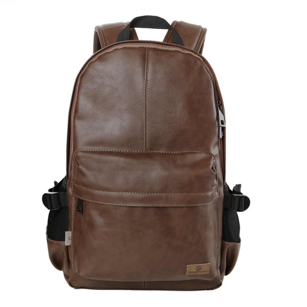 2016 HOT New Arrival 14.1 Inch Laptop Bag Backpack Men Large Capacity PU Leather Compact Men's Backpacks Unisex Women Backpack zooler genuine leather backpacks 2016 new real leather backpack for men famous brand china hot large capacity hot 65055