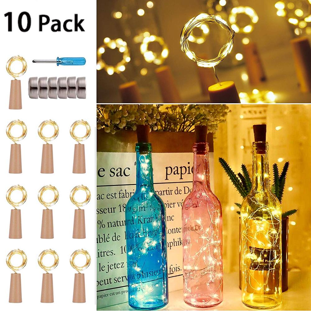 LED String Light Copper Wire String Holiday Outdoor Fairy Lights For Christmas Party Wedding Decoration Included Batteries 10PC