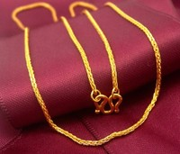 Pure 24k Yellow Gold Necklace Perfect New Wheat Chain Necklace 6 58g Hot Sale