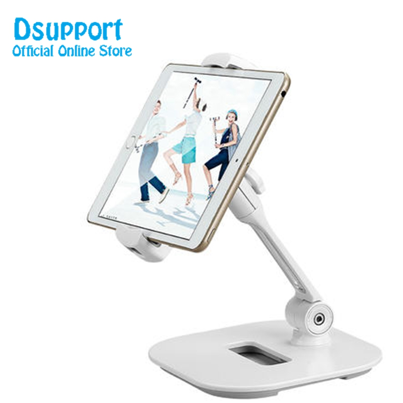 Multifunction 360 Rotation 4-11 inch Tablet PC Stand/ Mobile Phone Holder Metal Base Universal Foldable Tablet Support LD-204D