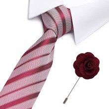 High Qualtiy  ties for men skinny Wedding dress necktie fashion Striped cravate business gravatas mens accessories