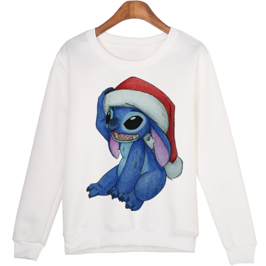 Harajuku 3D Print Cute Blue Stitch Sweatshirts Coat Men Women Animals Cartoon Stitch Fashion Hoodies Tracksuit Streetwear Tops