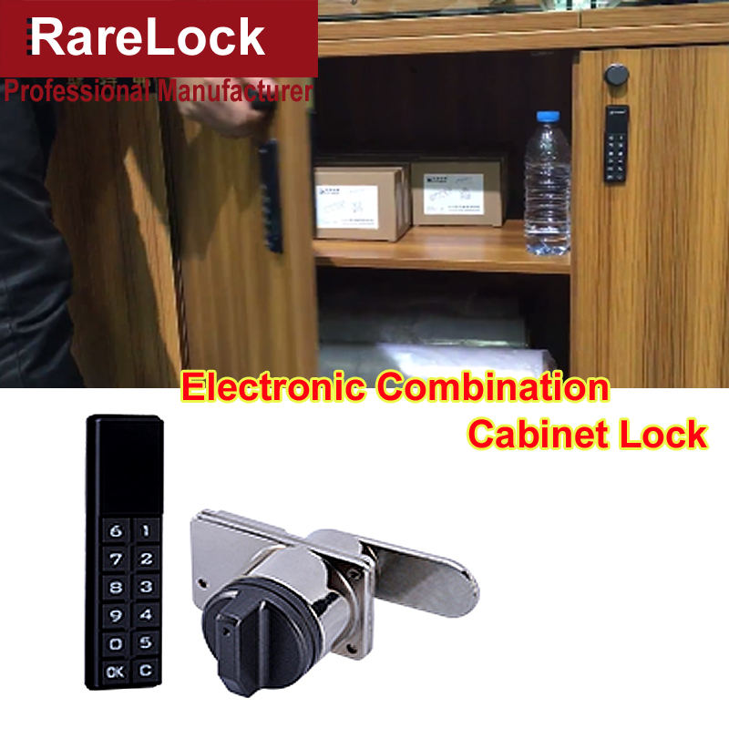 Rarelock MS518 Electronic Combination Cabinet Door Lock for Cash Box Hotel Drawer Women Jewelry Case Gym Locker Furniture DIY i digital electric best rfid hotel electronic door lock for flat apartment