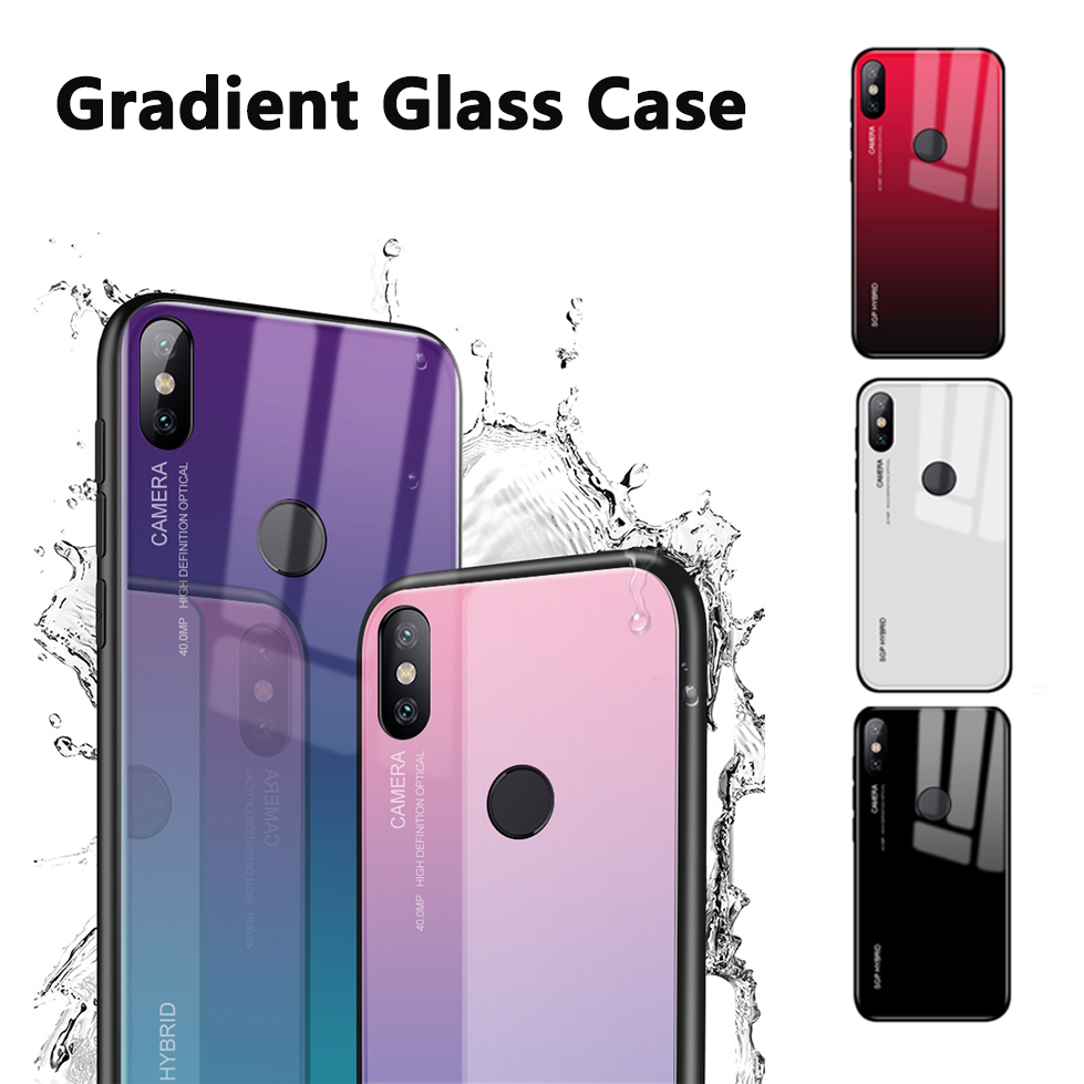Gradient phone shell for Xiaomi Mi A1 Case for Xiaomi Mi Mix 2 2S 5X 6X 6 Note 3 Mi6 Mi5X MiA1 Mix2 S Glass Cover colorful coque