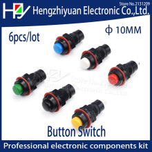 Hzy 6pcs/lot self-reset  Push Button Switch 10mm Self Return Momentary Push Button Switch Self-locking Push Button Switch 2A125V