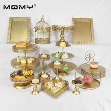 15 Pcs Crystal 3 Tiered New Design Fashion Wholesale Metal Wedding Cake Stand