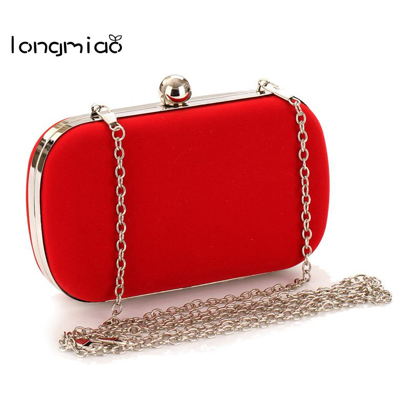 longmiao Women Evening Bag Bridal Wedding Party Purse Ladies Satin Clutch Handbag Women Mini Chain Messenger Bags Day Clutches day clutches elegant lady messenger bags for women clutch evening bag casual party purse beaded wedding handbag zh b0321