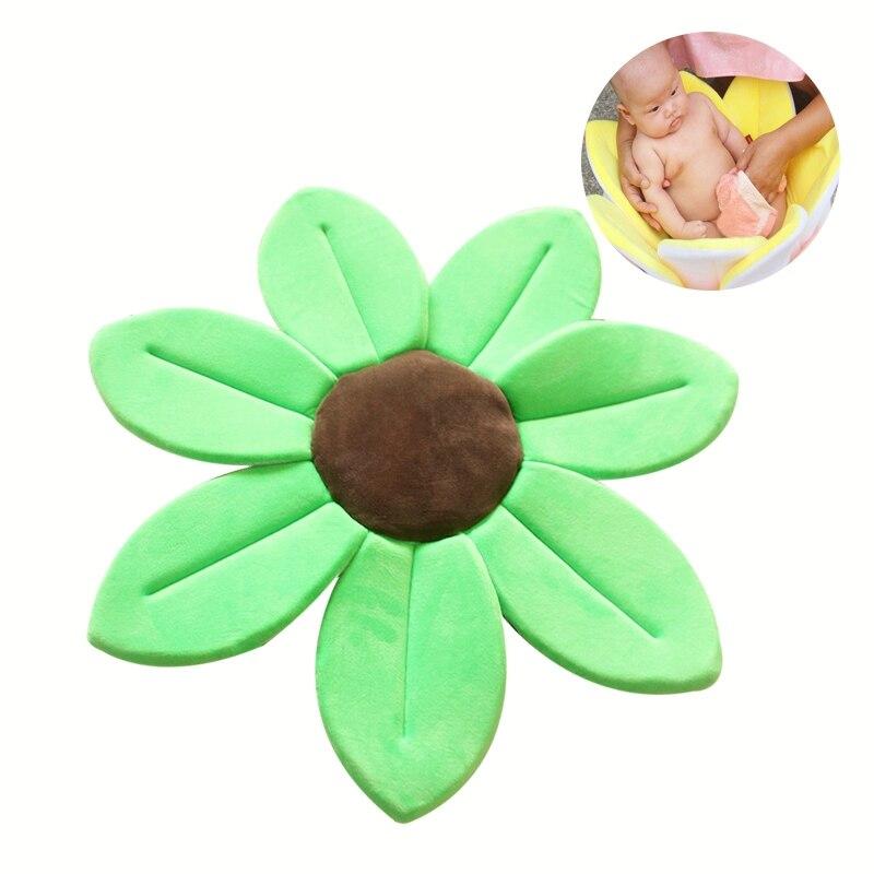Bad Matte Neugeborenen Baby Klapp Badewanne Sitz Blühende Blume Badewanne für Baby Nicht-Slip Tragbare Unterstützung Dusche Sitz Spielen matte Badewanne