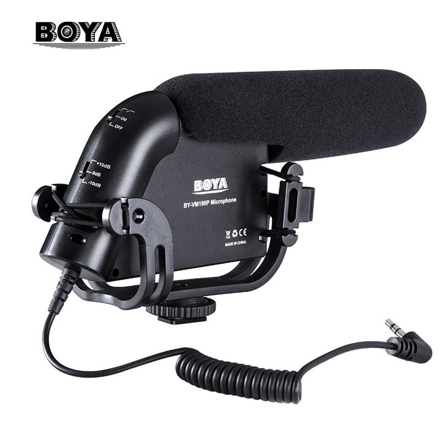 Prix pour BOYA BY-VM190P Caméra Stéréo Vidéo Condenseur Shortgun Microphone pour Canon Nikon Pentax Dslr Caméscope