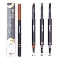 3 Color 2 in 1 Eyebrow Pencil With Brow Brush Waterproof Automatic Makeup Cosmetic Tool R1 Eyebrow Enhancers