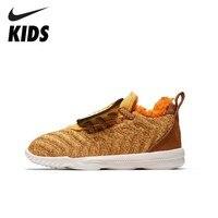 NIKE LEBRON XVI фунтов (TD) новое поступление Симпатичные тигра зима теплая кроссовки для детей спортивный плюс бархатные туфли AT5709 700