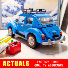 New LEPIN 21003 Creator Series City Car Volkswagen Beetle model Building Blocks Compatible10252 Blue Technic children toy gift