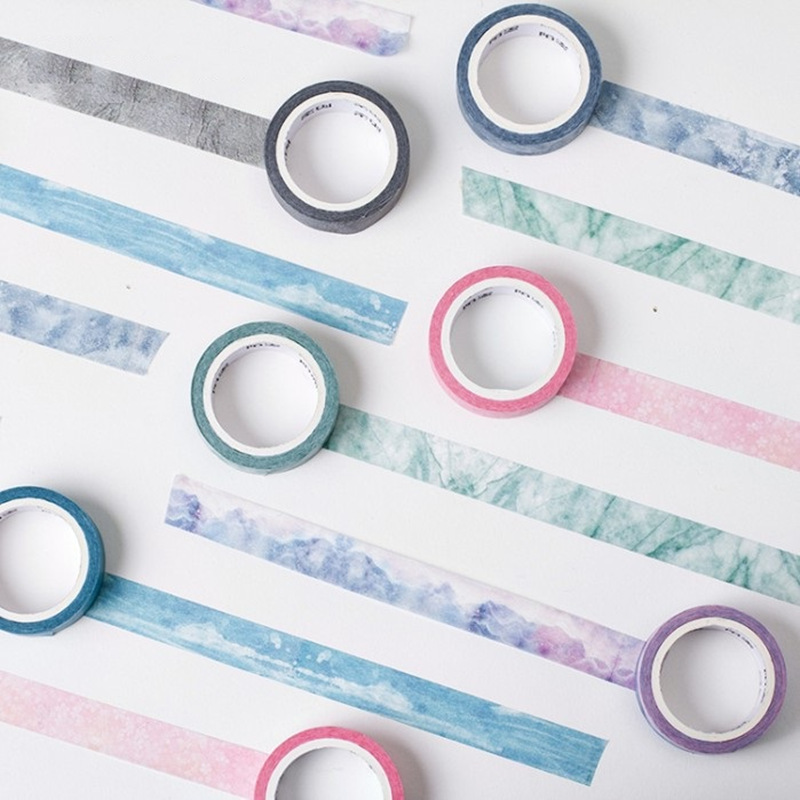 24 pcs Lot Nature color masking tape washi paper tapes 15mm 7m Decorative sticker for frame diary Stationery School supply CJ635 in Office Adhesive Tape from Office School Supplies