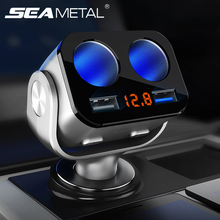 Автомобильный прикуриватель разветвитель зарядное устройство USB быстрое зарядное устройство прикуриватели розетки power Plug внутренние детали аксессуары