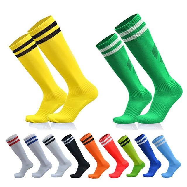 507955cfc9 football socks men/kids Over Knee High compression socks Long anti slip  Soccer sokken Stockings baseball sports accessories