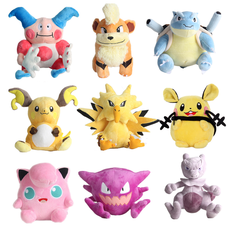 Cute Anime Elf Pikachu Squirtle Bulbasaur Charmander Charizard Blastoise Plush Toy Stuffed Doll Fine Collection Gift