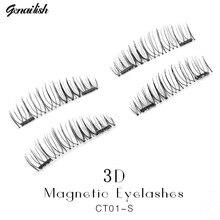 Genailish Fake Lashes 6D Magnetic Eyelashes Double Magnet False Lashes Makeup Extension Eyelash maquillage CT01-S
