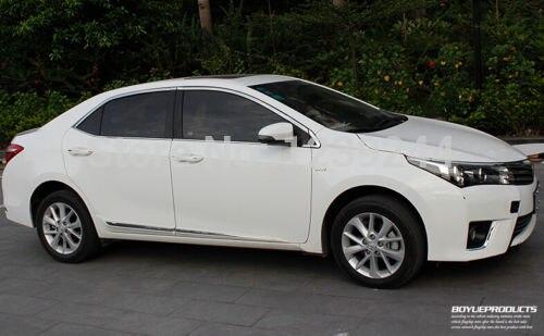 Stainless Steel Chrome Window Trim For Toyota Corolla 2014 for toyota c hr 2016 2017 stainless steel inner