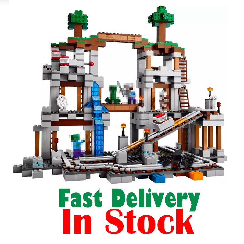 Lepin Minecraft 18011 922pcs My World The Mine Building Blocks Bricks anime action Figures educational Toys for children 21118 lpgo action figures 922pcs the mine building kit compatible with legoelieds minecraft sets original world 2016 brinquedo toys