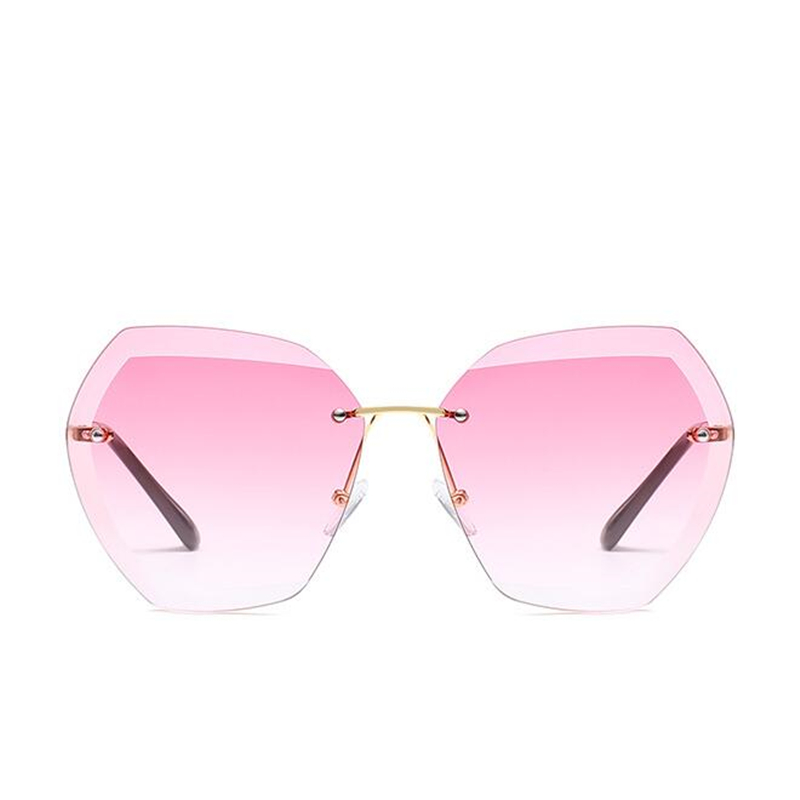 2019 Fashion Square women 39 s sunglasses hue Vintage Retro Rimless Sun Glasses for women Female Ladies Sunglass gafas de sol mujer in Women 39 s Sunglasses from Apparel Accessories