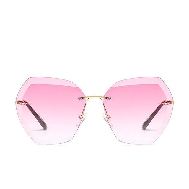 2019 Fashion Square women's sunglasses hue Vintage Retro Rimless Sun Glasses for women Female Ladies Sunglass gafas de sol mujer 4