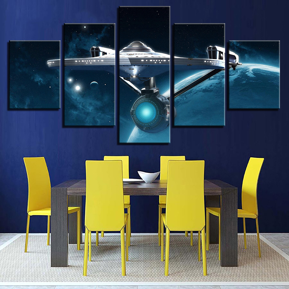 Modern, Wall, Painting, Star, Pictures, Panel