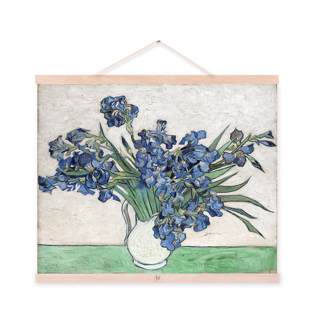 Irises Vincent Van Gogh Modern Blue Flowers Poster Prints Original