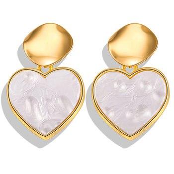 Geometric Shell Earrings For Women Earrings Jewelry Women Jewelry Metal Color: FCS1705A2