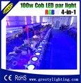 2016 Led COB Par Light 100 Вт Высокая яркость алюминиевый корпус 100 Вт Cob Led Par Light для продажи Dmx Stage Lights