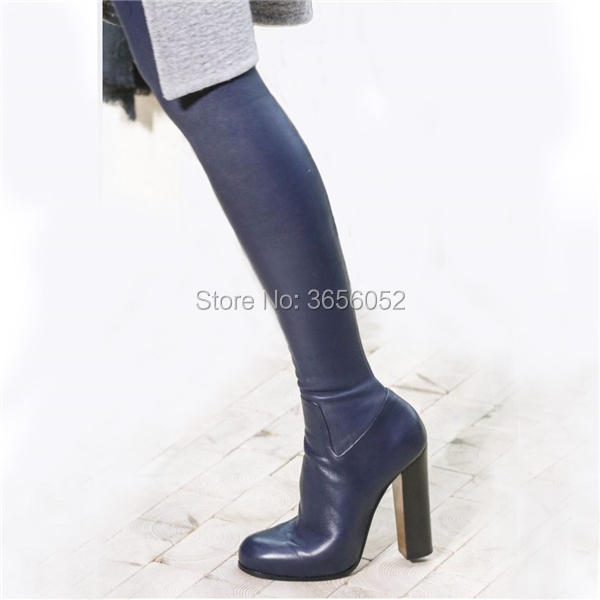 Cuir Stretch Chaussures Mujer Botas Qianruiti Talons Pic Sexy En Hiver Piste as As Cuissardes Hauts Automne Pic Mode Bloc xvqwpE76q