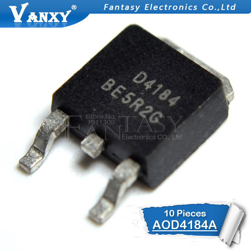 10PCS AOD4184A TO-252 D4184A TO252 AOD4184 D4184 40V/50A